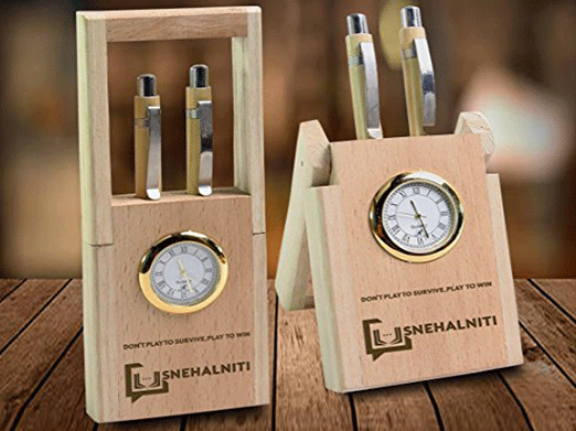 SnehalNiti Table Clock with Pen